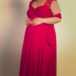 Pinkblush Maternity Evening Gown